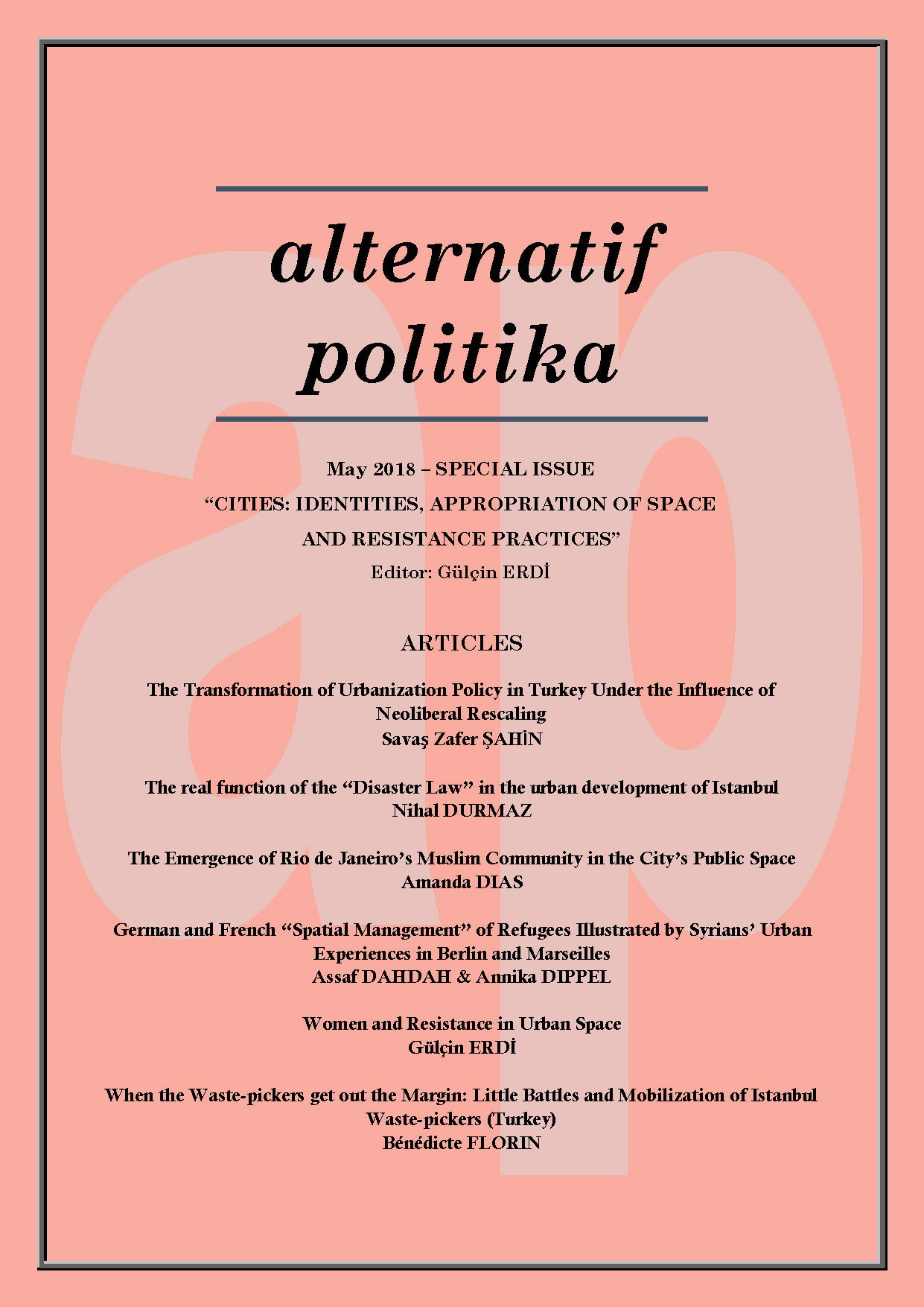 Alternative Politics | International Academic Journal